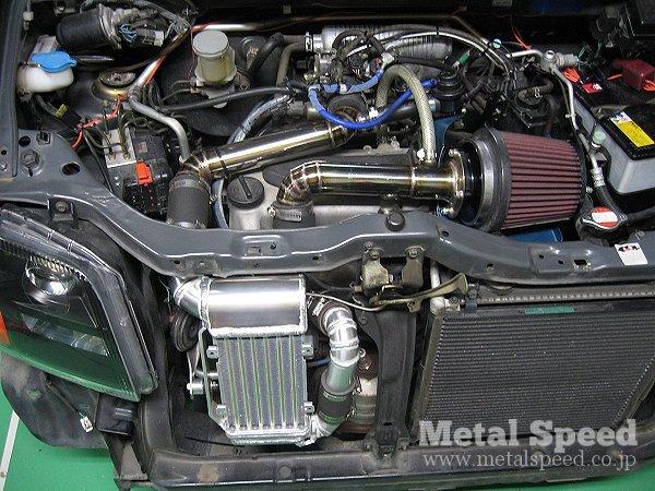 スズキ・ワゴンR用ワンオフインタークーラー,エアクリーナー by メタルスピード